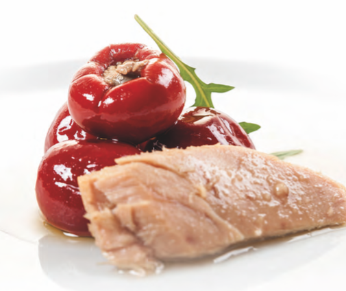 Peperoni cherry ripieni con tonno