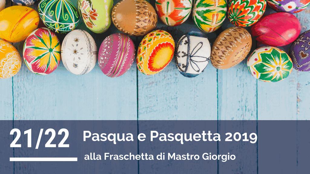 Menù di Pasqua e Pasquetta 2019