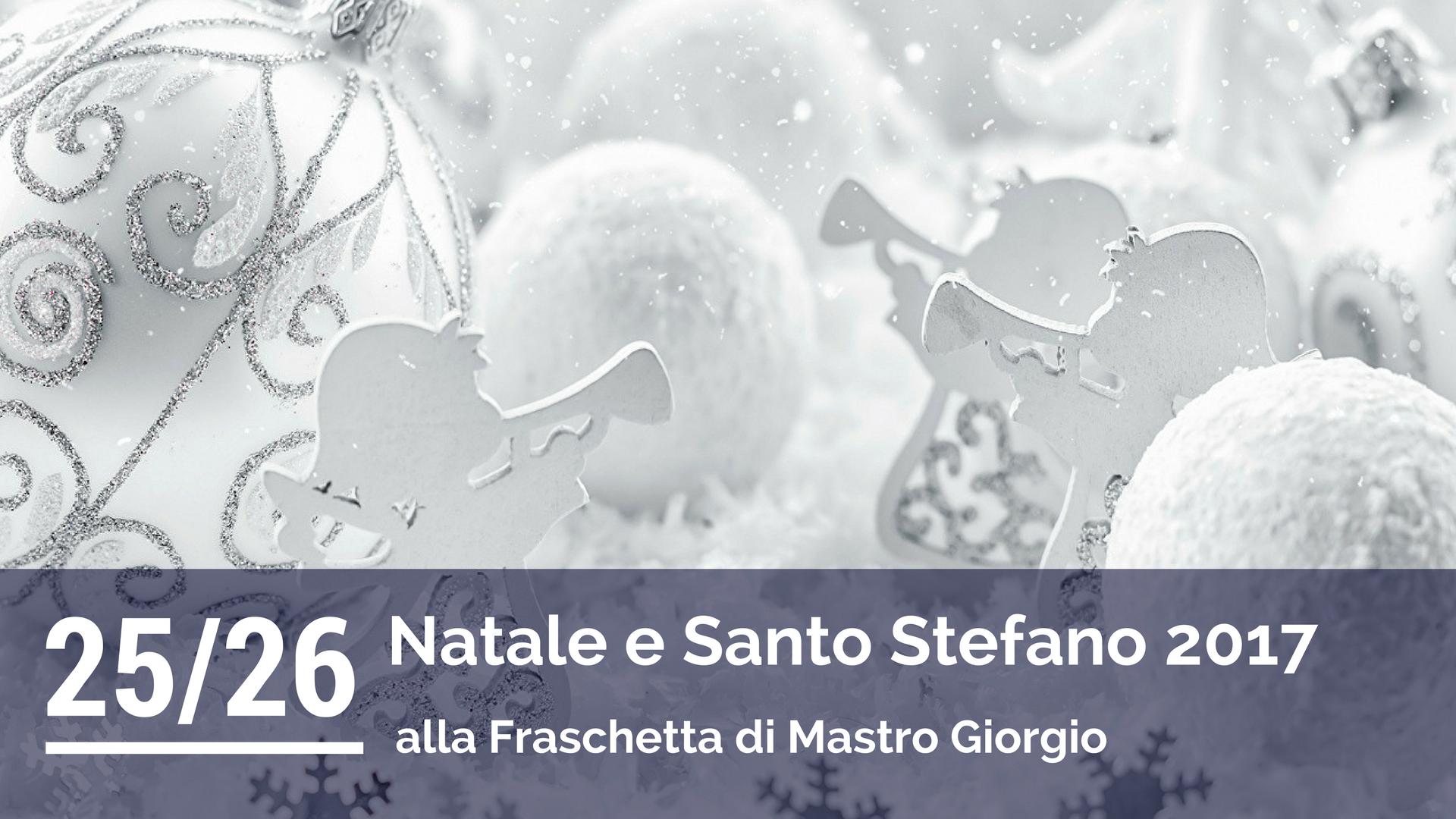 Menù di Natale e Santo Stefano 2017