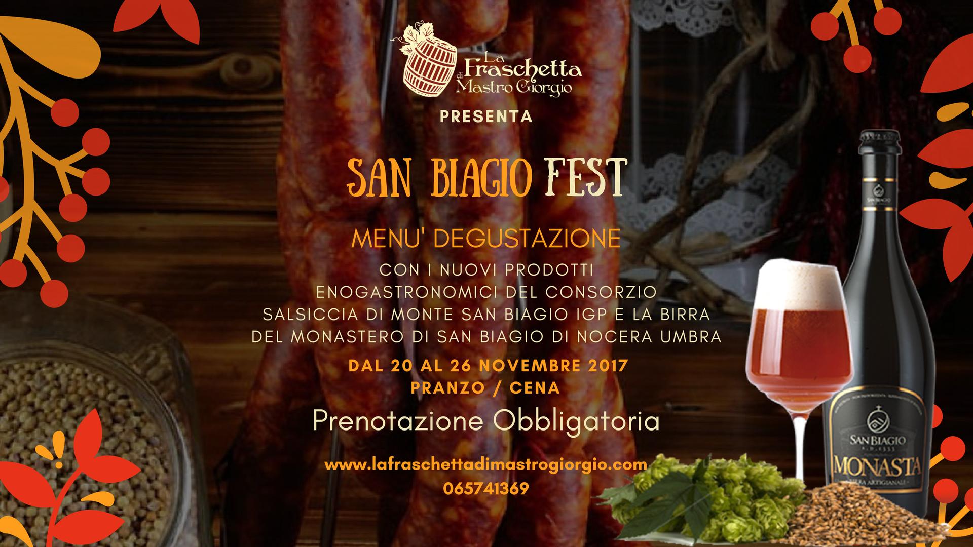 San Biagio FEST – dal 20 al 26 novembre '17