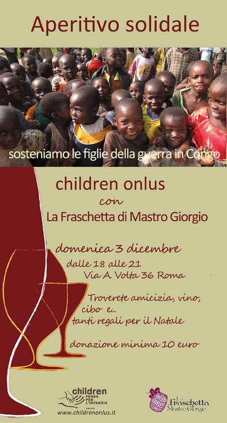 """Aperitivo solidale con """"Children Onlus"""""""